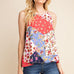 Gilli Floral Path Print Colorful Tank Top Savvy Chic Boutique Cleveland Ohio