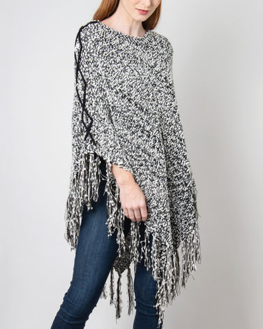 On the Prowl Poncho - Black