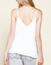 Ivory White Cream V Neck Camisole Tank Top Savvy Chic Boutique Cleveland Ohio