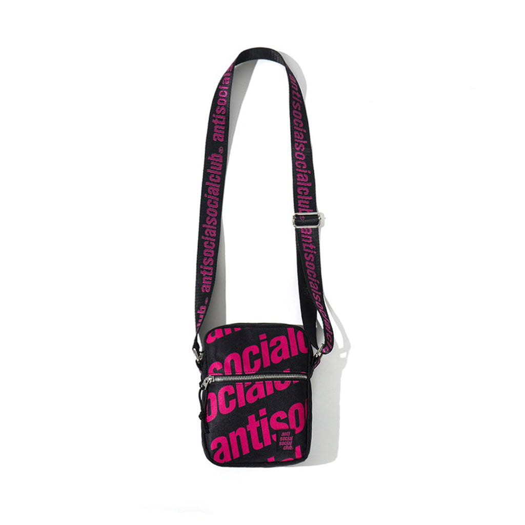 Anti Social Social Club Logo Shoulder Bag Black/Pink