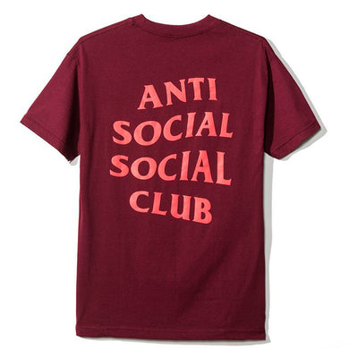 Anti Social Social Club Logo Tee Burgundy