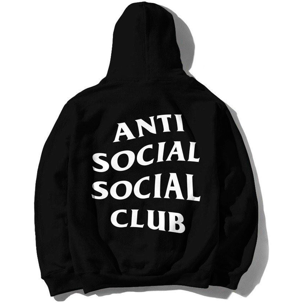 Anti Social Social Club Logo Zipper Hoodie Black
