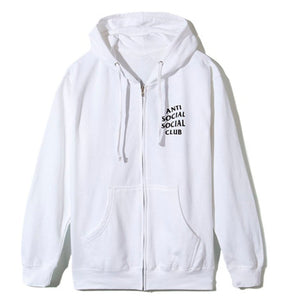 Anti Social Social Club Masochism Zip Up Hoodie White
