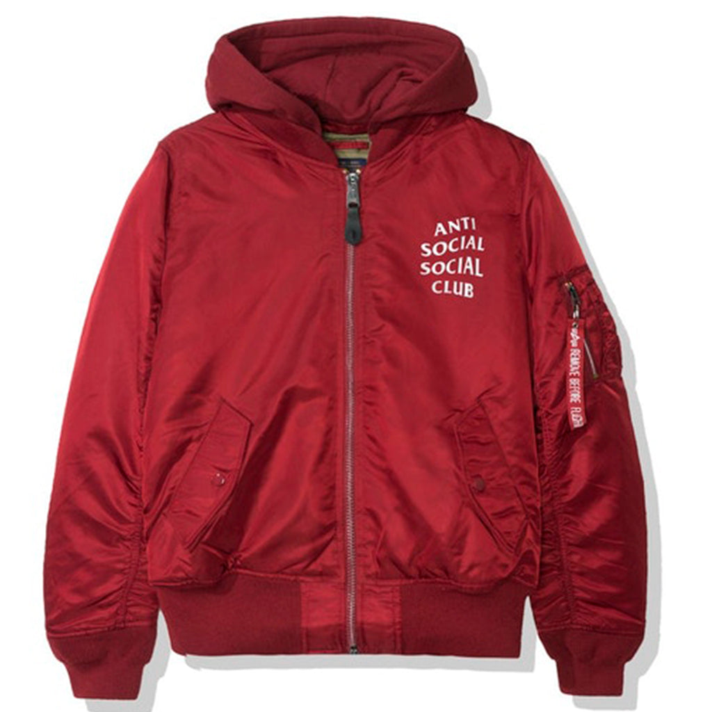 Anti Social Social Club Smog MA1 Alpha Jacket (FW19) Burgundy