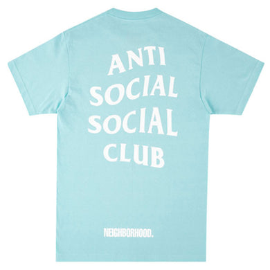 Anti Social Social Club x Neighborhood 911 Turbo Hoodie Teal Blue