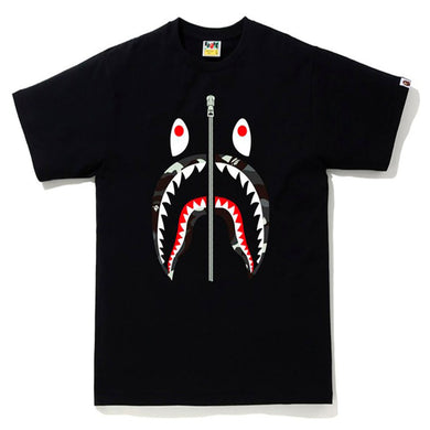 BAPE City Camo Shark Tee Camo Black