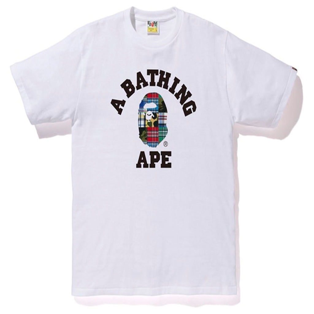 BAPE Patchwork College Tee White