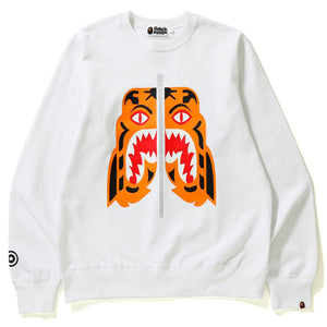 Bape Tiger Crewneck White