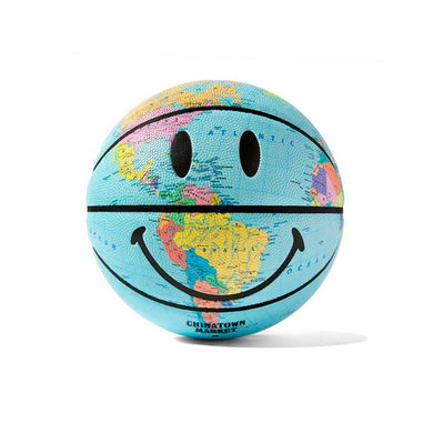 Chinatown Market Globe Smiley Basketball