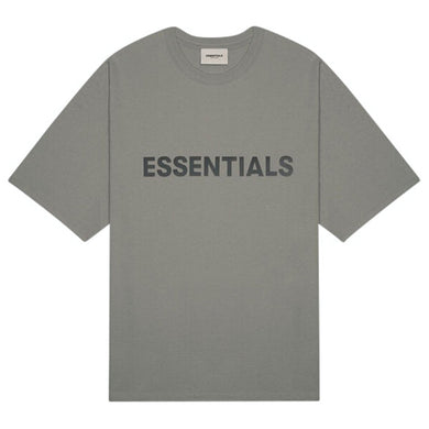 FEAR OF GOD ESSENTIALS 3D Silicon Applique Boxy T-Shirt Dark Slate/Stretch Limo/Black