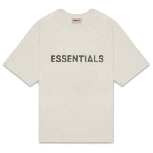 Fear of God Essentials 3D Silicon Applique Boxy T-Shirt Oatmeal Heather