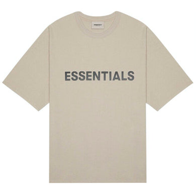 FEAR OF GOD ESSENTIALS 3D Silicon Applique Boxy T-Shirt String/Tan