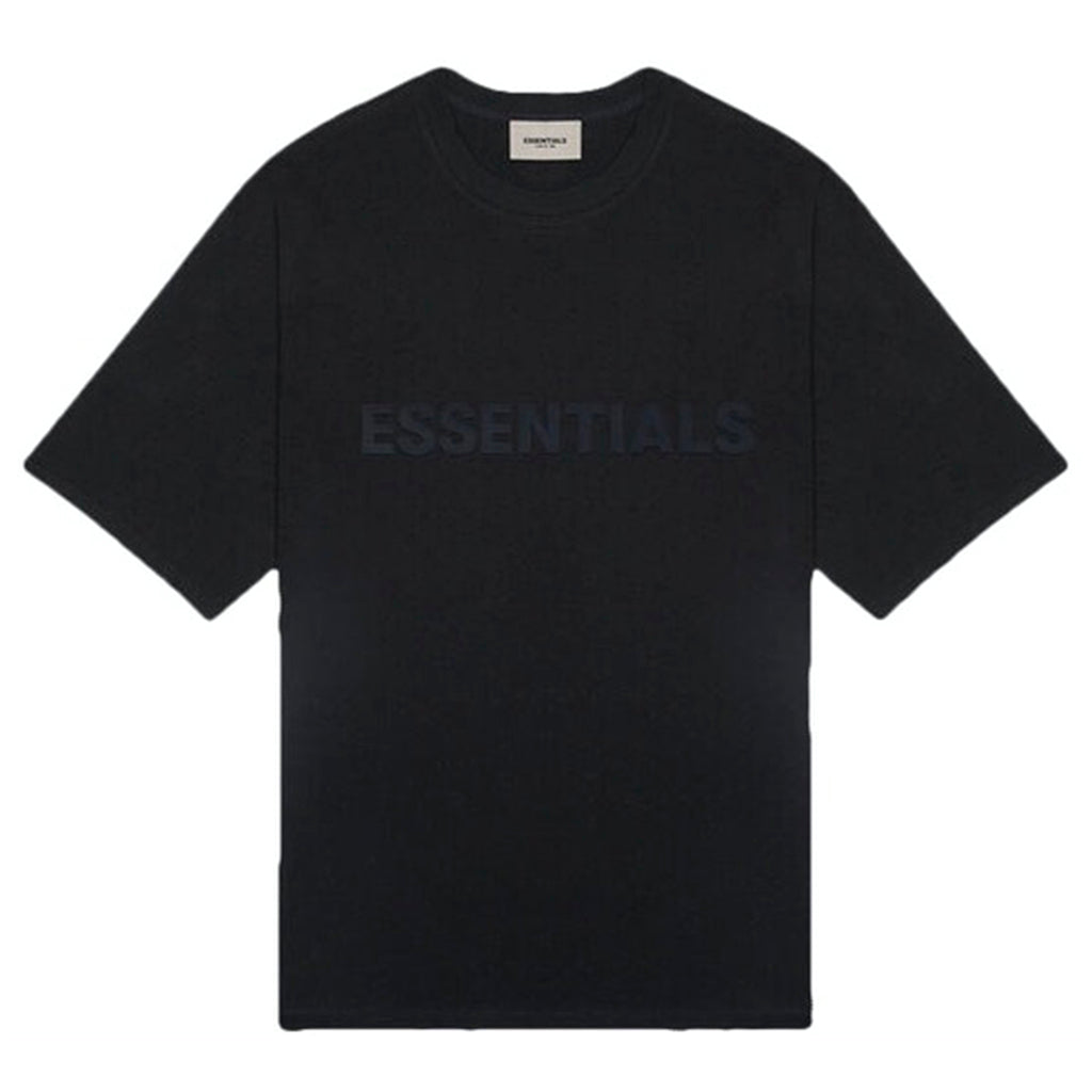 Fear of God Essentials 3D Silicon Applique Boxy Tee Dark Slate/Stretch Limo/Black