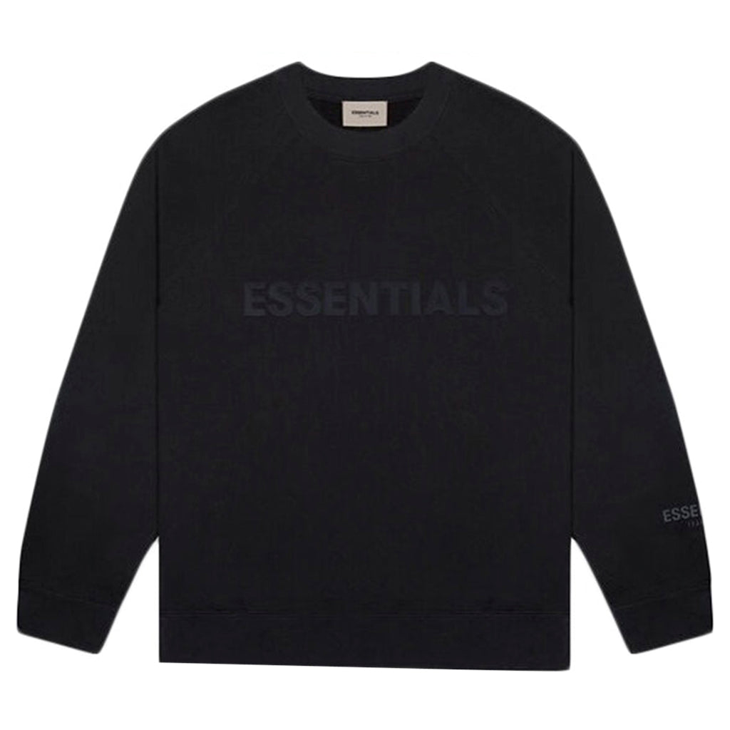 FEAR OF GOD ESSENTIALS 3D Silicon Applique Crewneck Dark Slate/Stretch Limo/Black