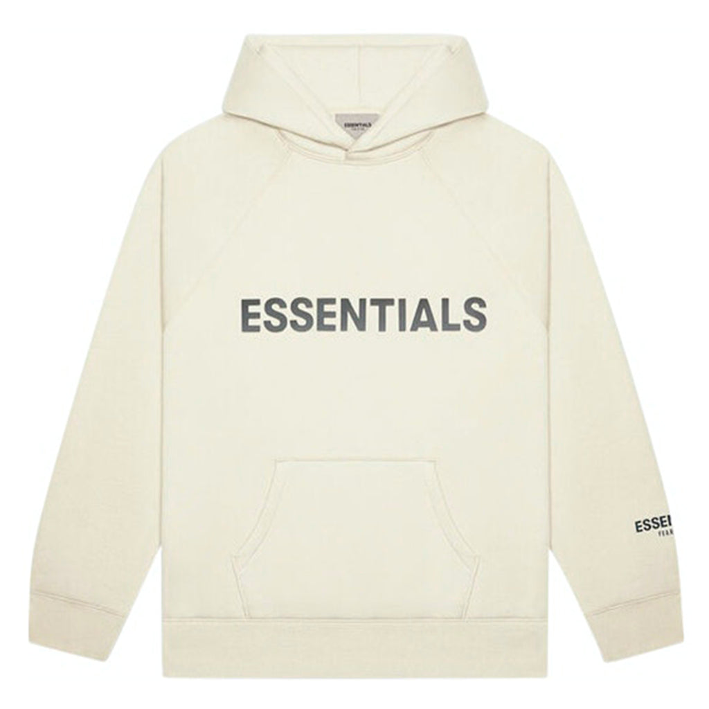 HypeStore | FEAR OF GOD Essentials 3D Silicon Applique Pullover Hoodie Buttercream