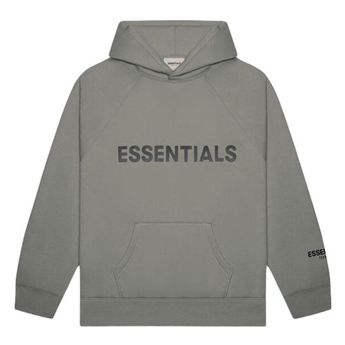 Fear of God Essentials 3D Silicon Applique Pullover Hoodie Charcoal