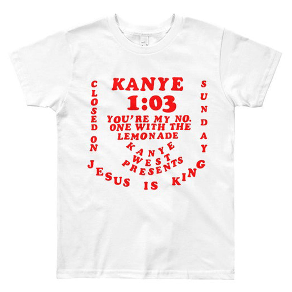 Kayne West CPMF Tee Red on White