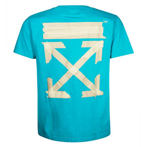 OFF-WHITE Arrows Tape Tee Blue