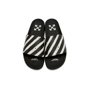OFF-WHITE Pool Slides Rugged Diagonal Stripes White
