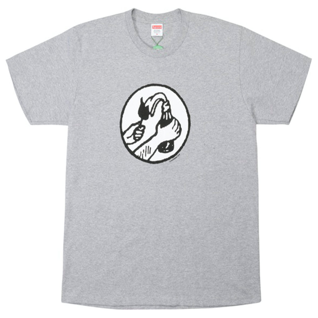 Supreme Molotov Tee Heather Grey