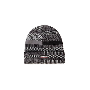 Supreme Multi Pattern Beanie Black