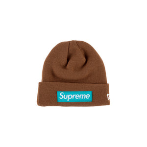 Supreme New Era Box Logo Beanie (FW17) Brown