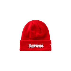 Supreme New Era Box Logo Beanie (FW19) Red