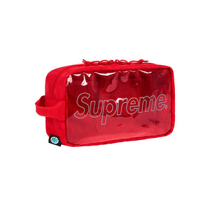 Supreme Outline Utility Bag Transparent Red