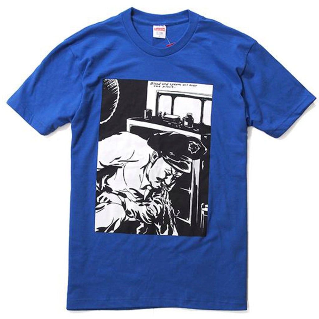 Supreme Raymond Petitbond Blood And Sperm Tee Blue