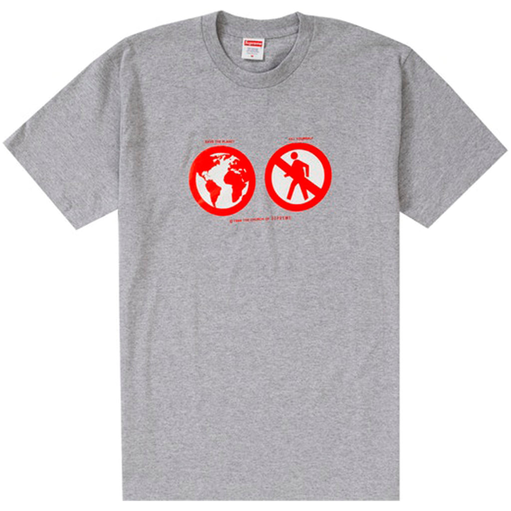 Supreme Save The Planet Tee Heather Grey