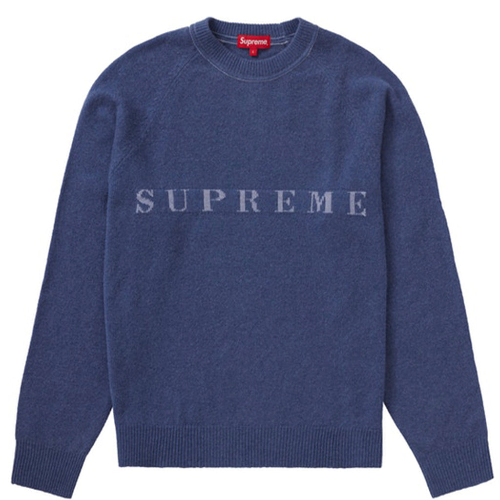Supreme Stone Washed Sweater Navy