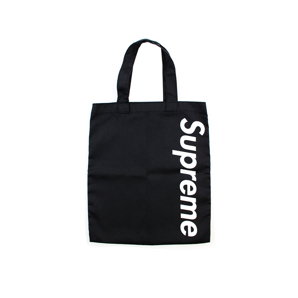 Supreme Vertical Logo Tote Bag Black