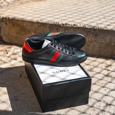 Gucci Ace low-top Sneaker Black Leather