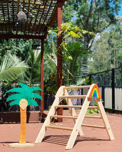 The MINI PIKLER- Foldable Pikler Triangle with Ramp/Slide optional add-ons