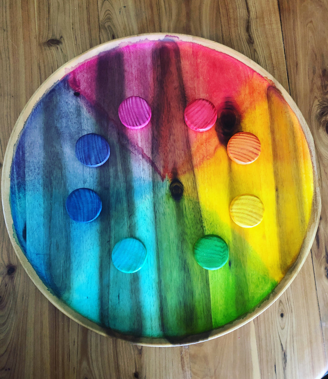 Rainbow colour wheel board