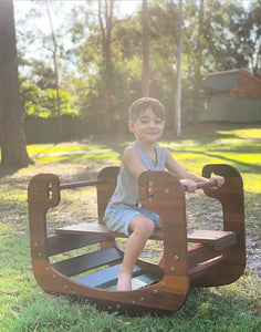OUTDOOR RAINBOW ROCKER (with benchseat and ramp/slide add on options)