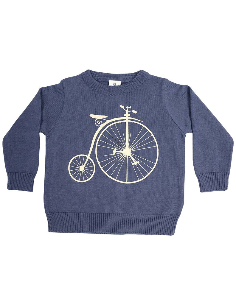 C13031S Vamos Vintage Boys Knit Sweater with Print