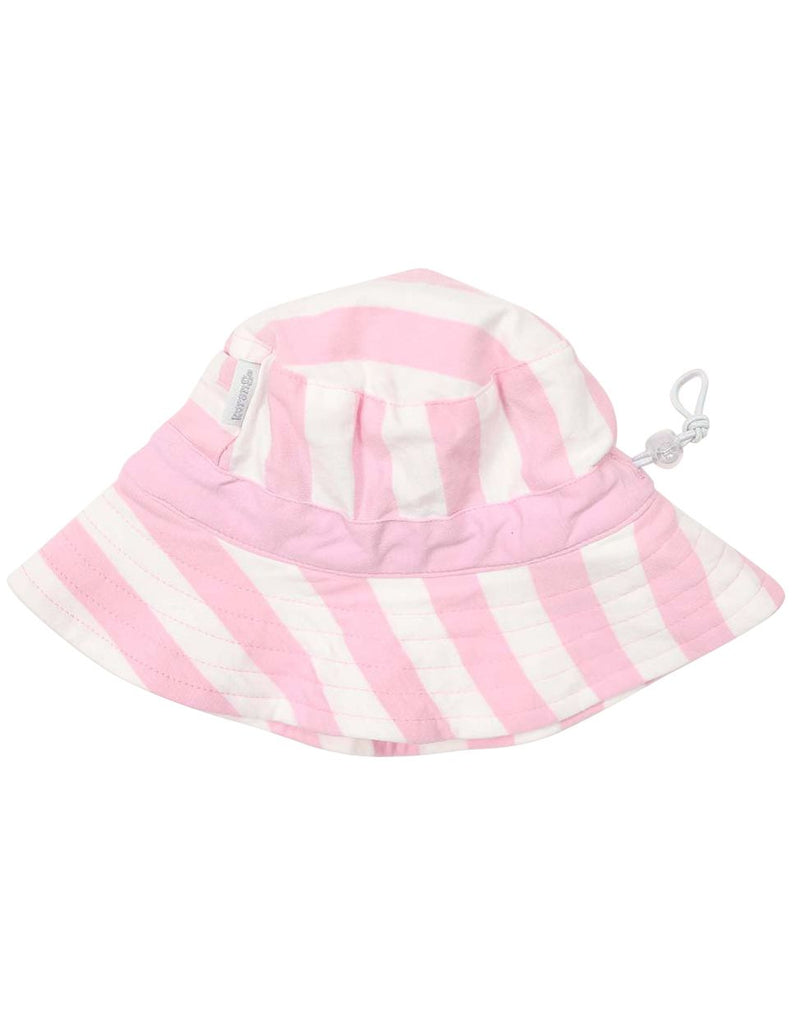 A1241P Striped Cotton Sun Hat-Accessories-Korango_Australia-Kids_Fashion-Children's_Wear