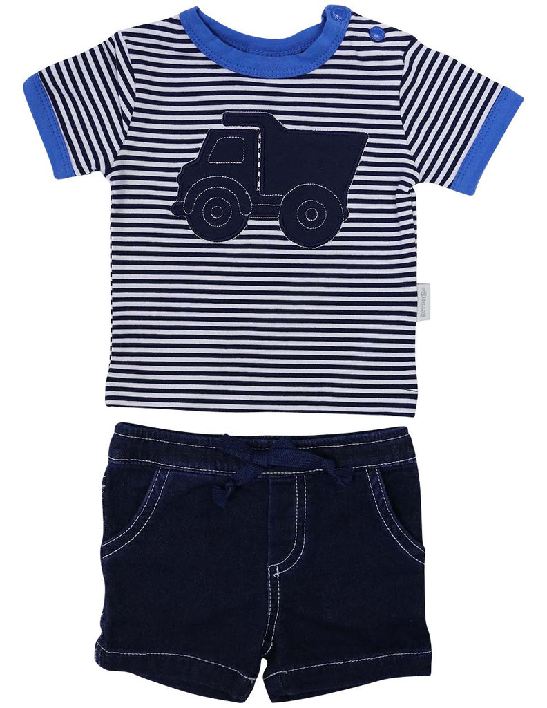 B1213B Tip Truck Top & Short-Sets-Korango_Australia-Kids_Fashion-Children's_Wear
