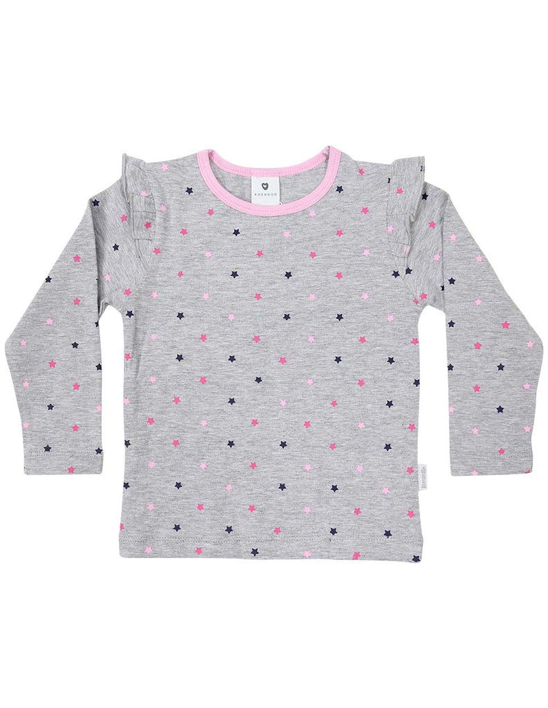 A1333G Stars Long Sleeve Star Print Tee