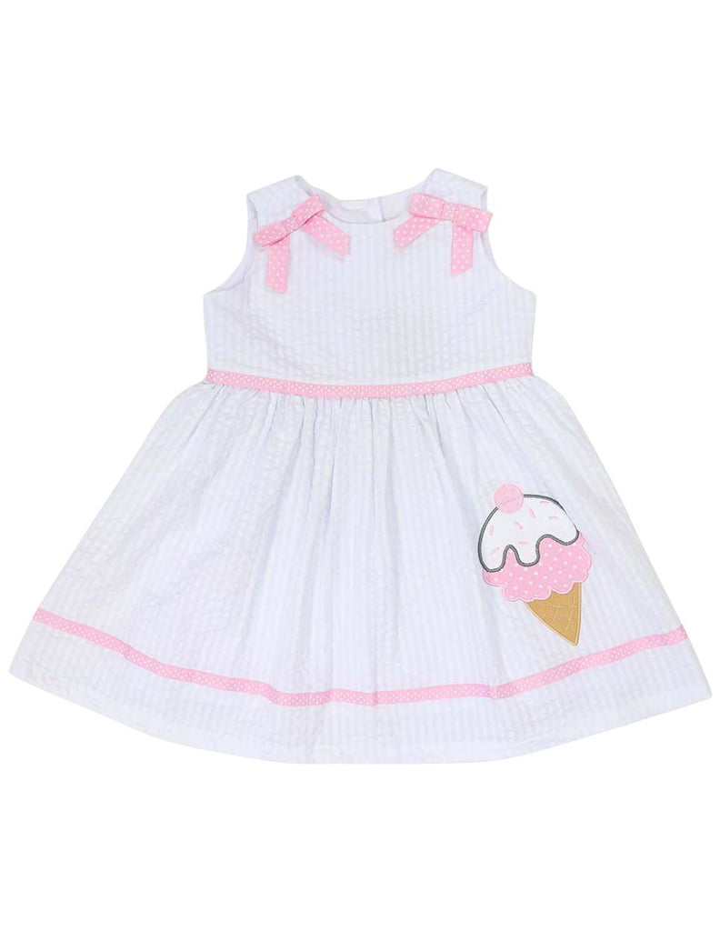 A1212W Seersucker Ice Cream Dress