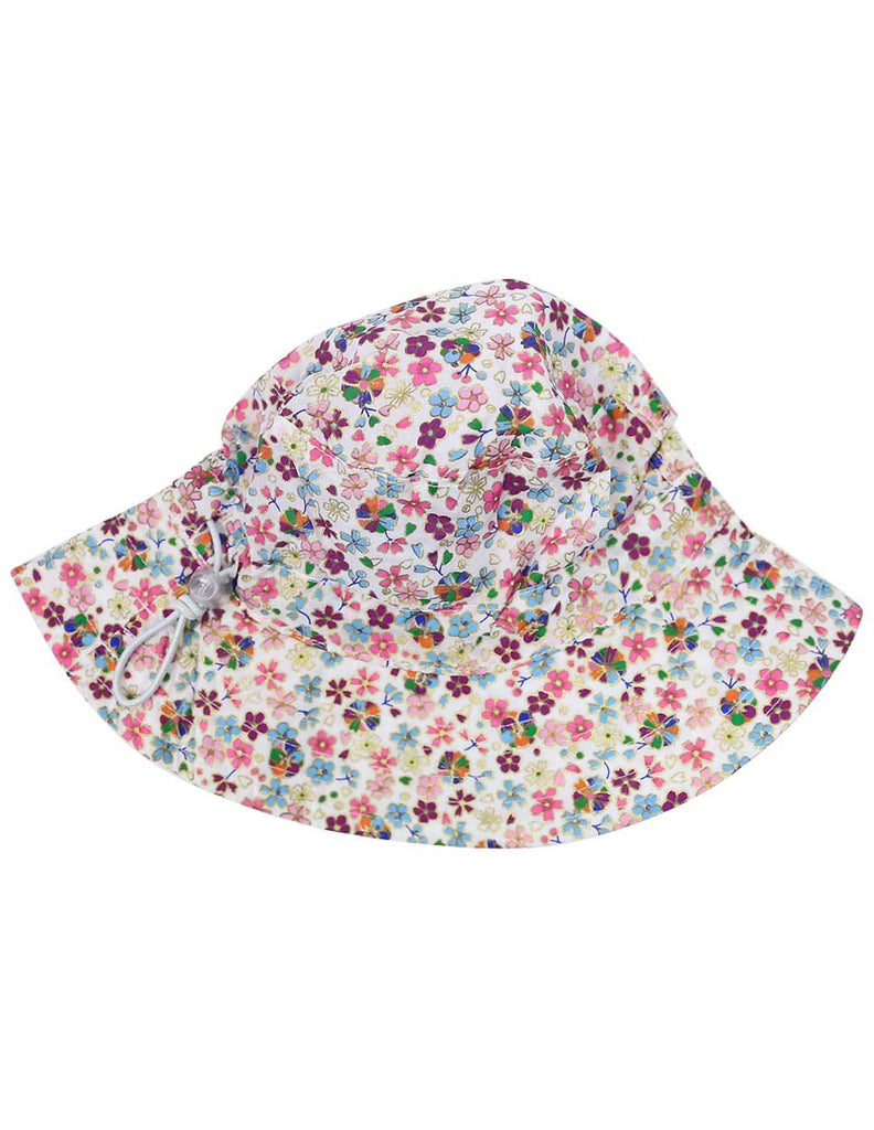 A1229P Floral Hat-Accessories-Korango_Australia-Kids_Fashion-Children's_Wear