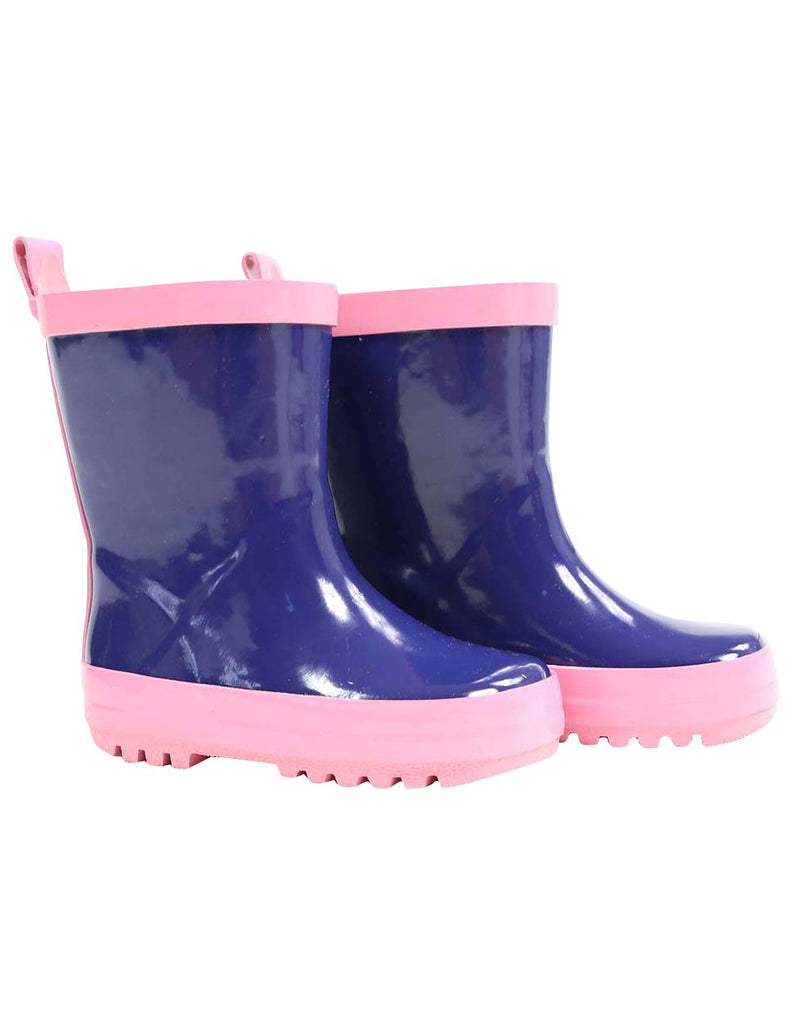 A1345P Rainwear Gumboot Contrast binding and sole