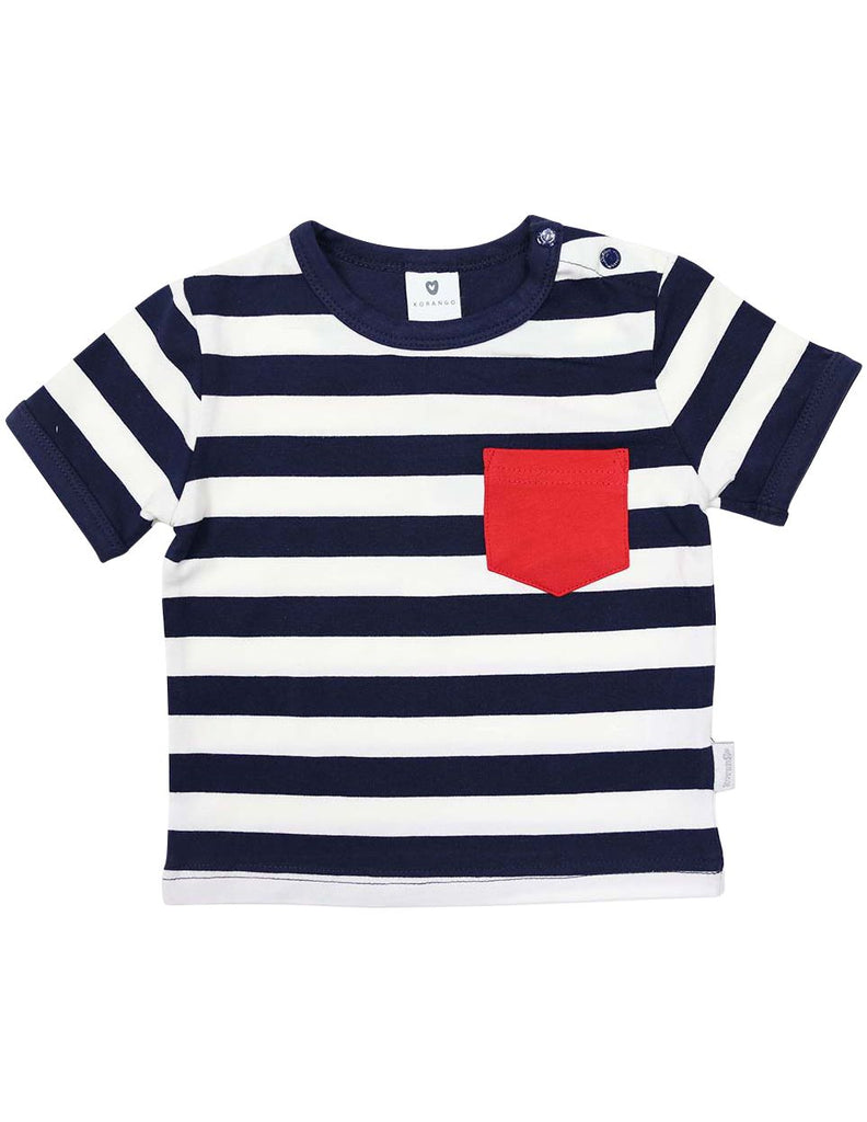 A1232N Beach Boys Striped Tee-Tops-Korango_Australia-Kids_Fashion-Children's_Wear