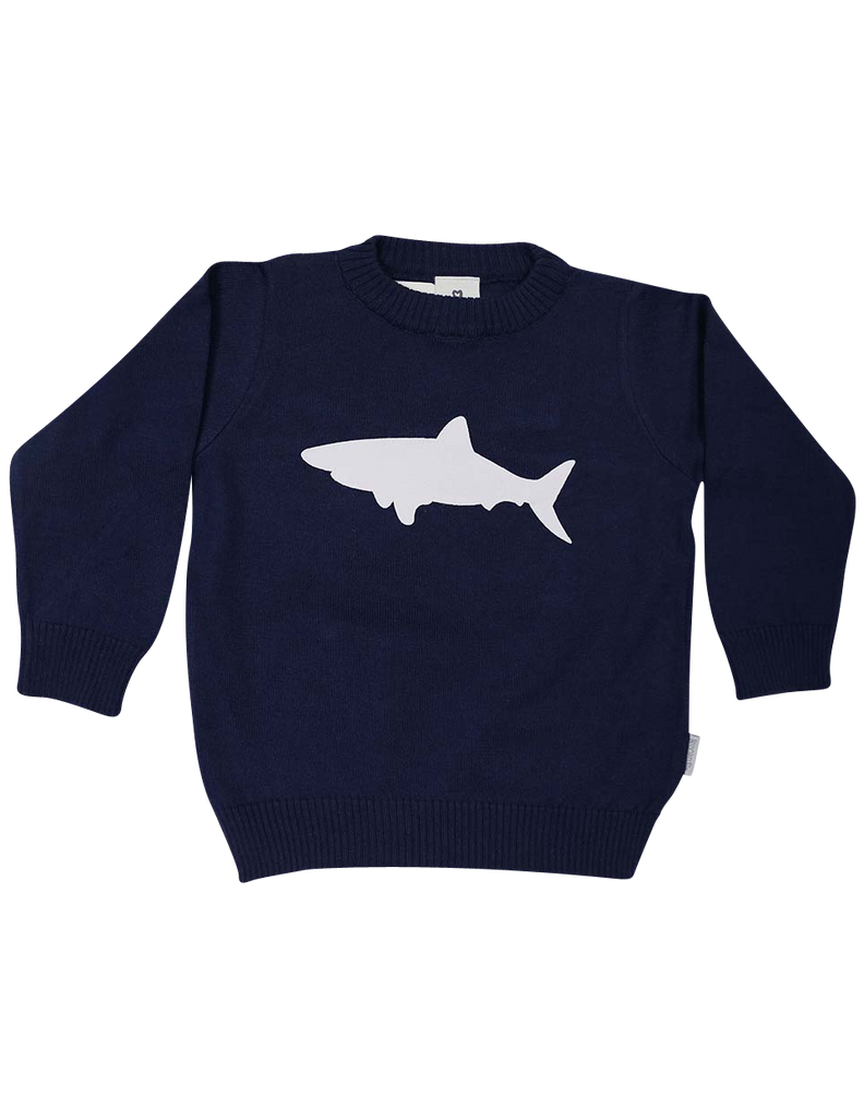 A1220N Shark Sweater-Cardigans/Jackets/Sweaters-Korango_Australia-Kids_Fashion-Children's_Wear
