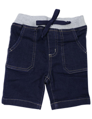 A1224D Denim Knit Short-Pants & Shorts-Korango_Australia-Kids_Fashion-Children's_Wear
