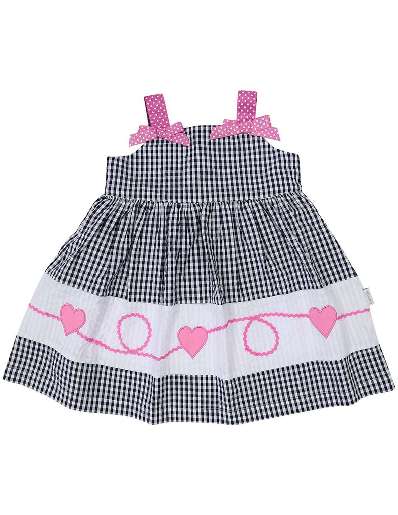 A1216N Seersucker Heart Dress-Dress-Korango_Australia-Kids_Fashion-Children's_Wear