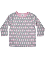 B13020P Baby Penguin Printed Long Sleeve Top
