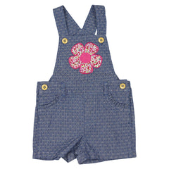 A1407C Flowers Chambray Playsuit
