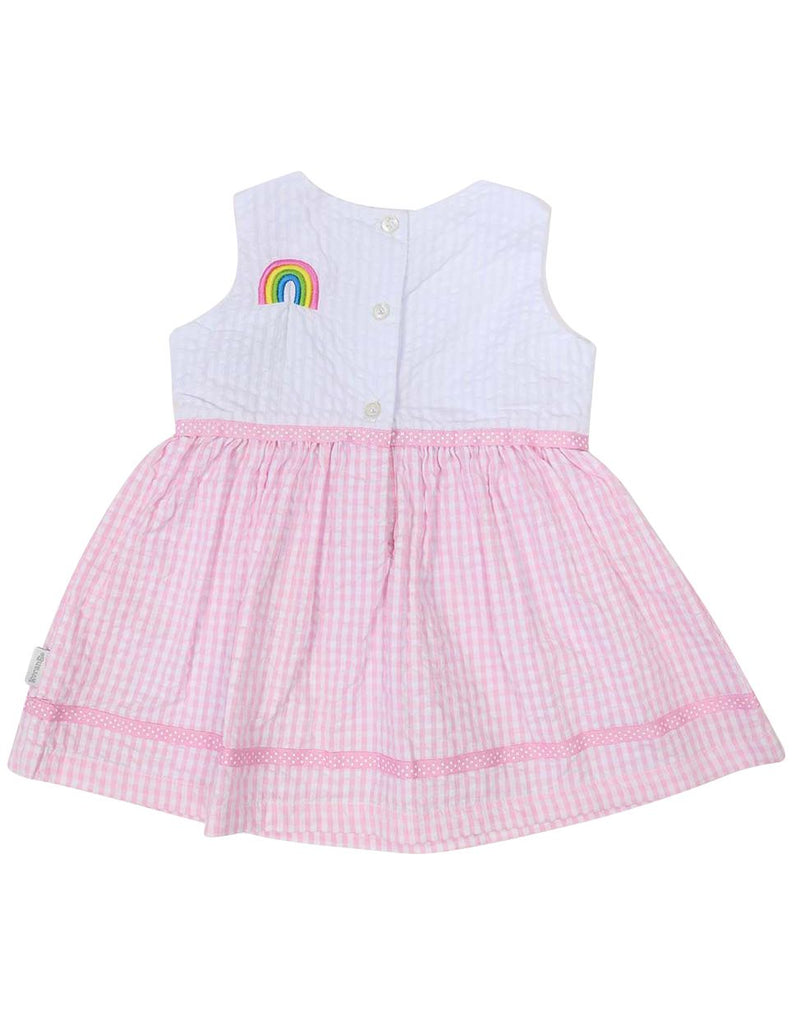 A1215P Seersucker Rainbow Dress-Dress-Korango_Australia-Kids_Fashion-Children's_Wear